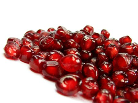 vitamin rich: Garnet very healthy and rich vitamin fruit Stock Photo