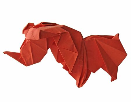 Origami traditional Japanese art make figur from paper