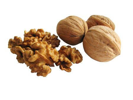 circassian: The Nuts is an excellent substitute of meat. Walnut - a king nut Stock Photo