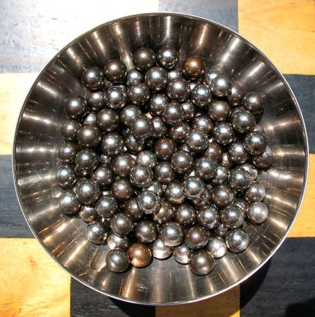 ball bearing: The Metallic balls look enough unusual however ball - one of the main of the geometric forms. In this instance balls are a detail of ball bearing.