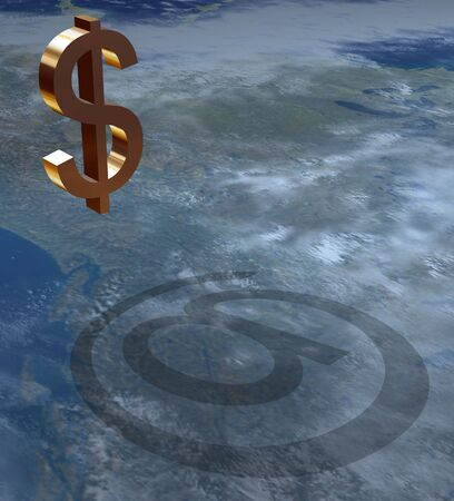 widespread: Universal sign marking the most wide-spread currency in world - an American dollar Stock Photo