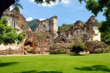 Ruins of La Recoleccion, Church of Antigua Guatemala Stok Fotoğraf