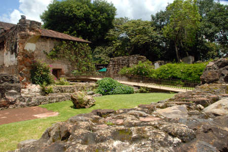 santo domingo: Garden walkway Santo Domingo in Antigua Guatemala