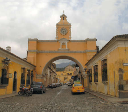 The arch over the cobble stone streets of Antigua Guatemala