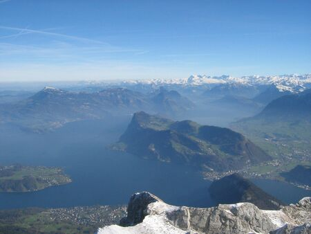 Lake Lucerne from Mt. Pilatus - Pilatus, Switzerland photo