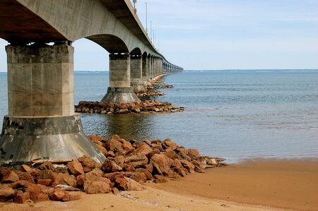 confederation: Confederation Bridge - Canada Stock Photo
