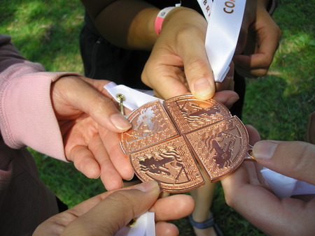 dragonboat: Winning medals from the Toronto International Dragon Boat Festival Stock Photo