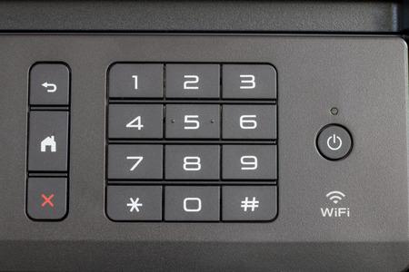 DE LIER, NETHERLANDS - AUGUST 28 2018: Close up of a  printer control panel