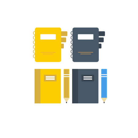 Set of flat document, folders icons vector for web design and mobile. EPS 10. Vector illustration