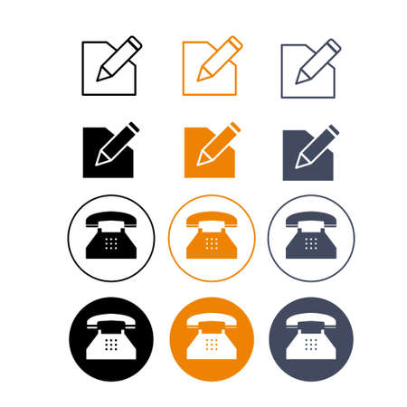 Set of flat icons vector for web design and mobile.
