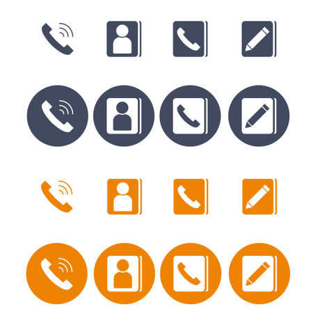 Set of flat icons vector for web design and mobile. EPS 10. Vector illustration