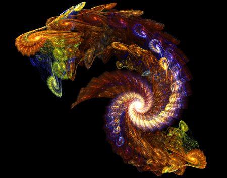 dragon: Abstract Fractal Image of a dragon Stock Photo