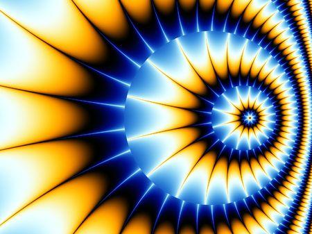 螺旋のフラクタルの美しい背景画像