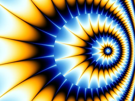 optical image: Beautiful Background Image of a Spiral Fractal