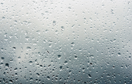 Drops of water on window after the rain