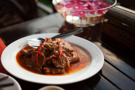 beef curry: Thai beef curry