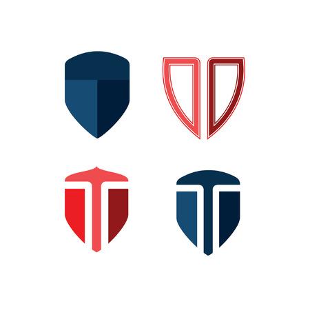 patriots: Letter T shield icon design Illustration