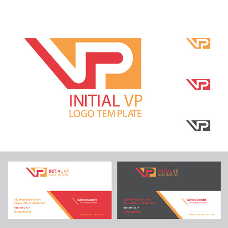 Vp initial logo plus business card