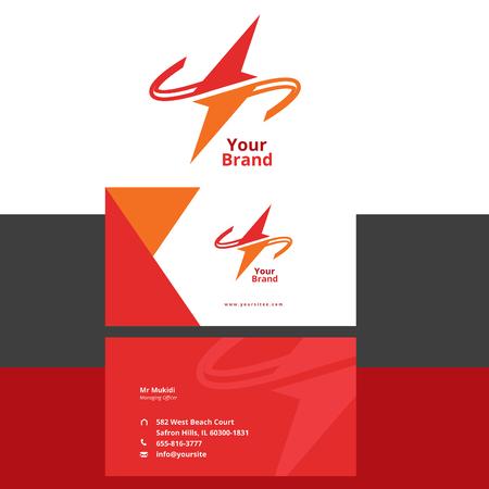 Electrical logo plus business card Illusztráció
