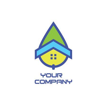 House plumbing logo Illusztráció