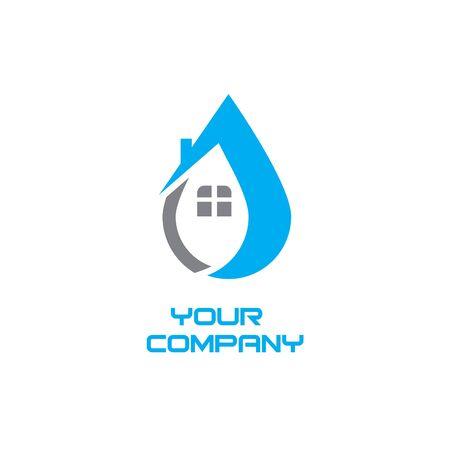 House plumbing logo Illustration