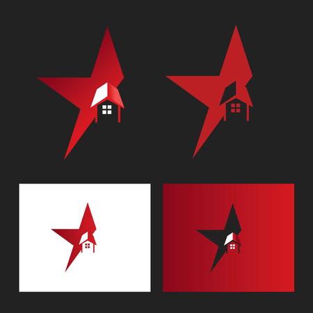 star house logo Illusztráció