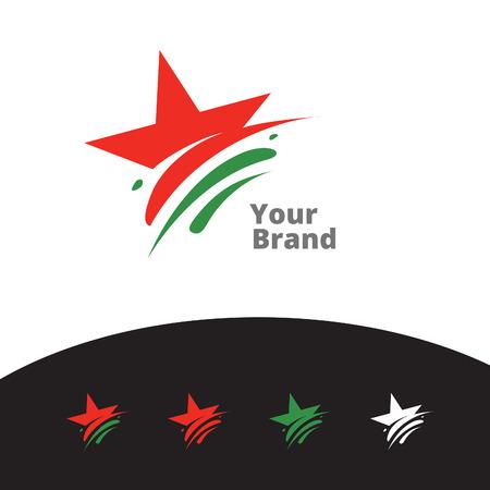 creative star logo Vector illustration.