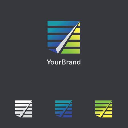 abstract check mark logo design Vector illustration. Illusztráció