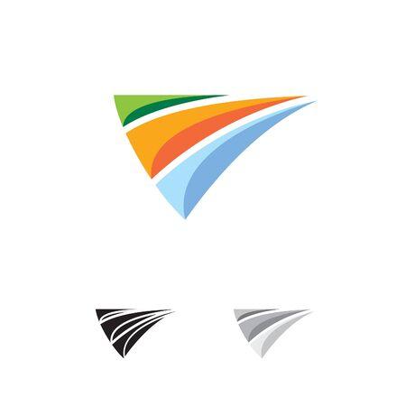 abstract colorful logo Vector illustration. Illusztráció