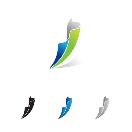 abstract feather like flagging logo Vector illustration. Illusztráció