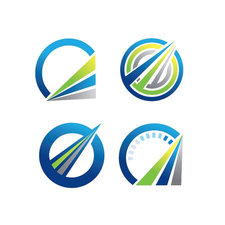 sets of abstract speed logo Vector illustration