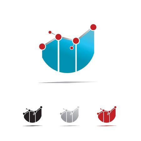 Technology finance symbol illustration.