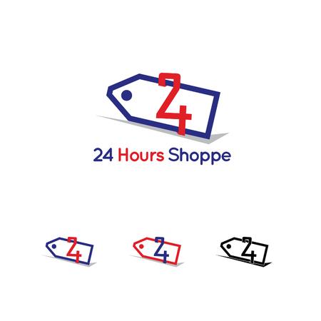 24 hour shop logo