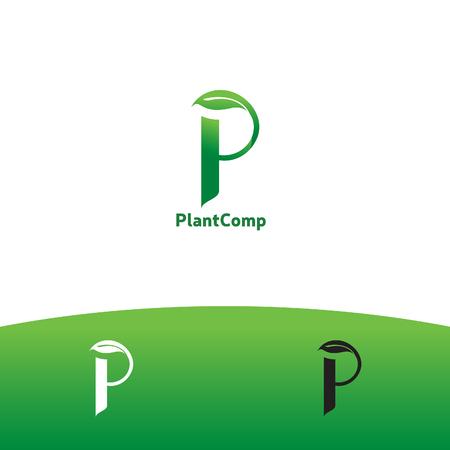 Letter P symbol for plant