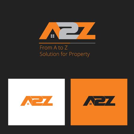 A to Z housing logo Illusztráció