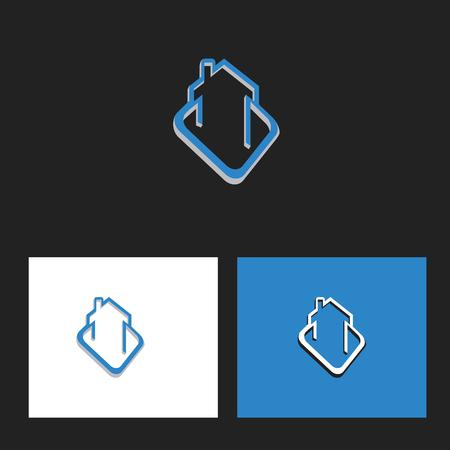 Simple and unique house logo Illusztráció