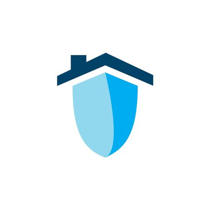 A house security logo or icon on plain background.