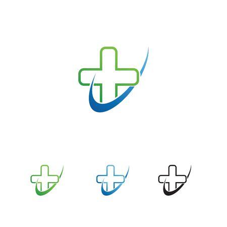 Medical cross symbol illustration.