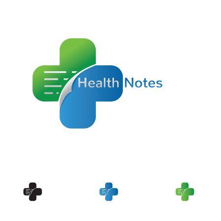 health note illustration.