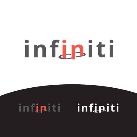 infinity word mark and icon