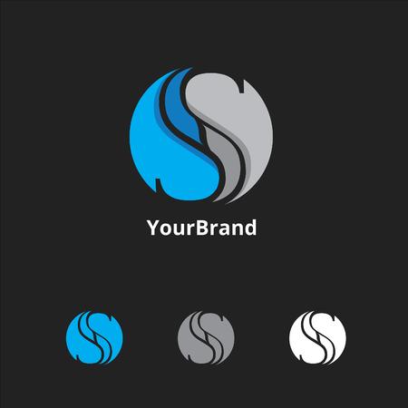 letter S logo Ilustracja