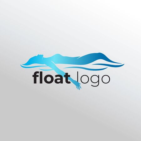logo of a women float and relax on water
