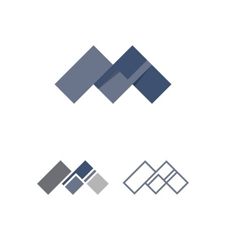 creative letter m initial logo with connecting element Illusztráció