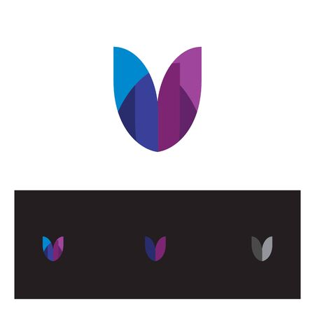 creative and abstract letter m initial logo