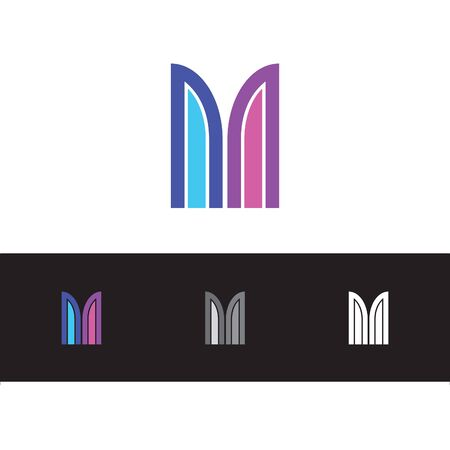 creative and simple letter M logo