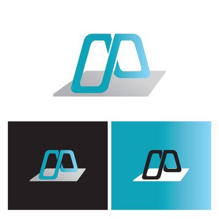 creative intertwined infinity letter M logo Illusztráció