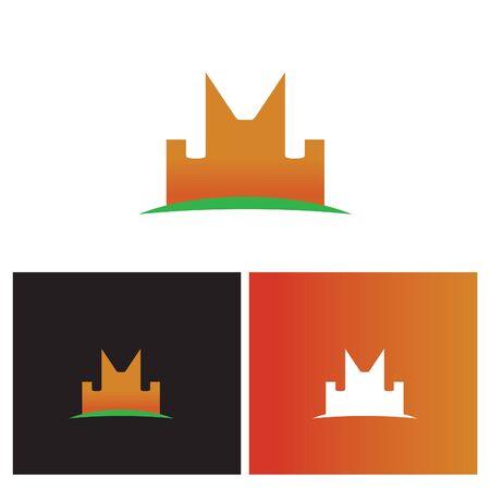 creative and funletter M logo Illusztráció