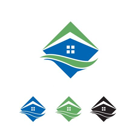 abstract house logo or icon