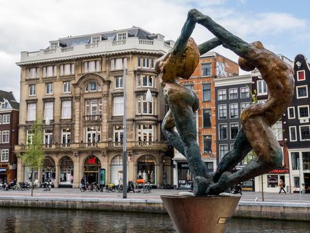 Melting wax dance, Sculpture by Boris Abramov, Amsterdam