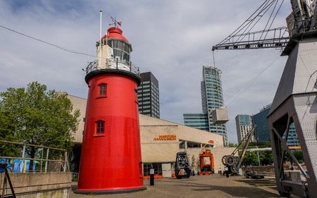Rotterdam, The Netherlands - May 16, 2017. Outdoor exhibition of Maritime Museum Редакционное